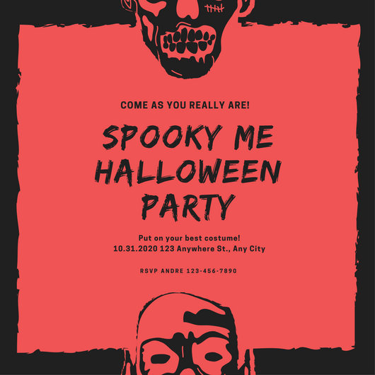 Halloween Party Invite Template Beautiful Customize 3 999 Halloween Party Invitation Templates