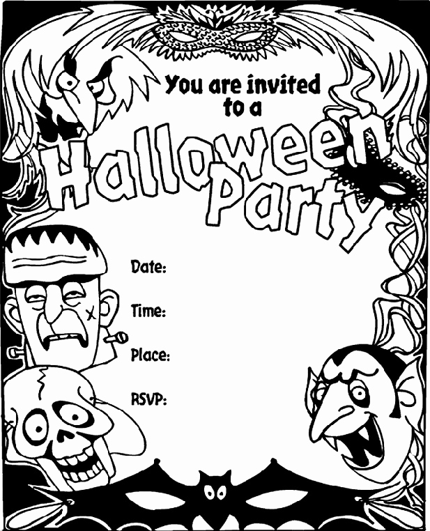 Halloween Party Invite Template Fresh 16 Awesome Printable Halloween Party Invitations