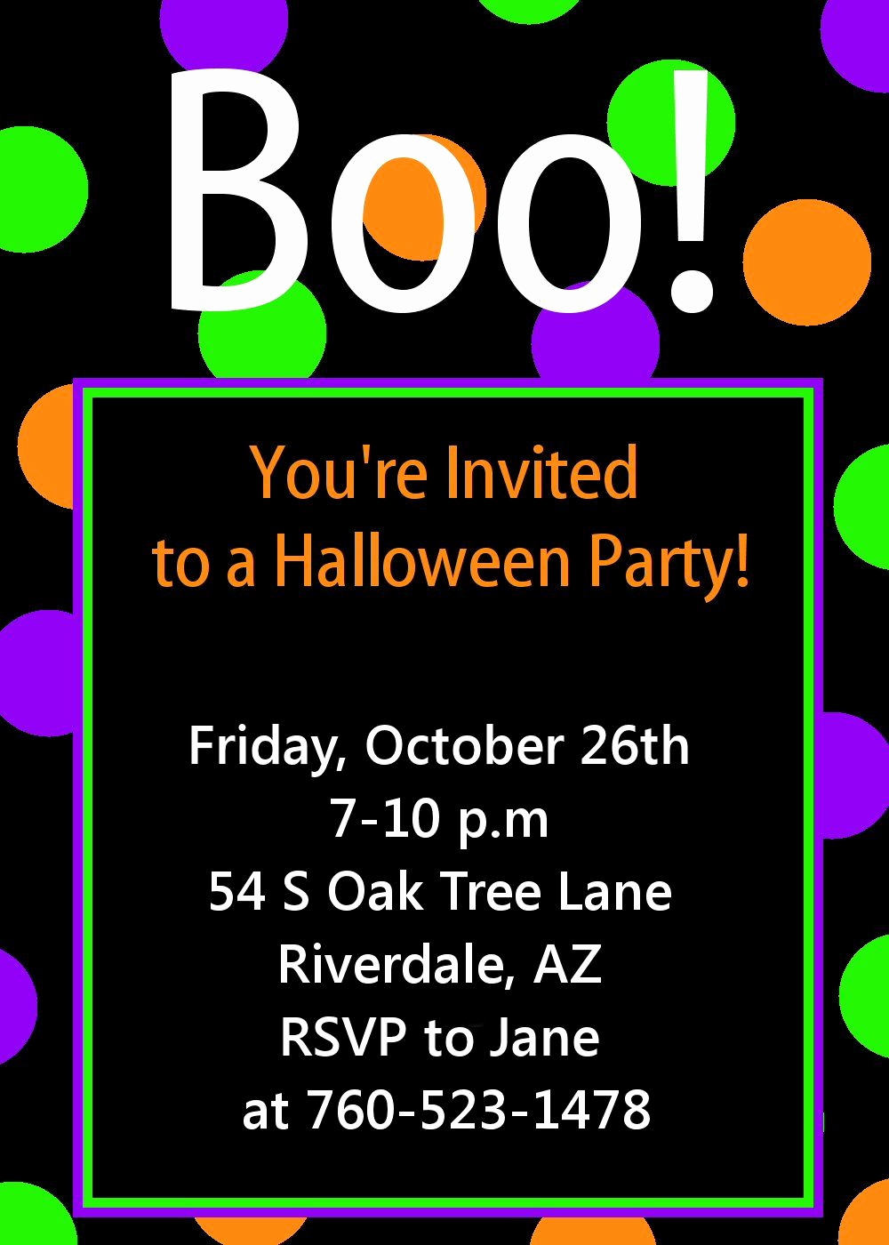 Halloween Party Invite Template Inspirational Halloween Party Invitation Printable