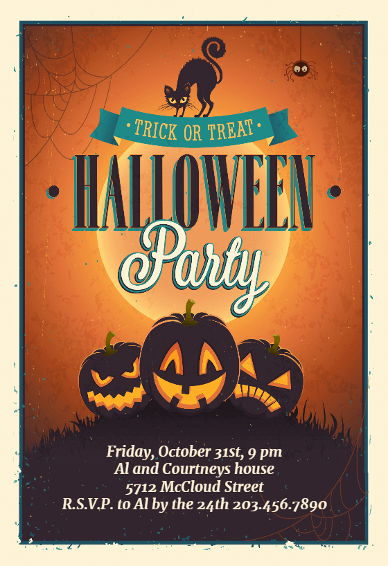 Halloween Party Invite Template Inspirational Vintage Party Free Halloween Party Invitation Template