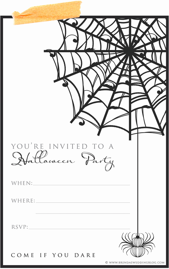 Halloween Party Invite Template Luxury 9 Fun & Stylish Ideas for Halloween Weddings A Printable