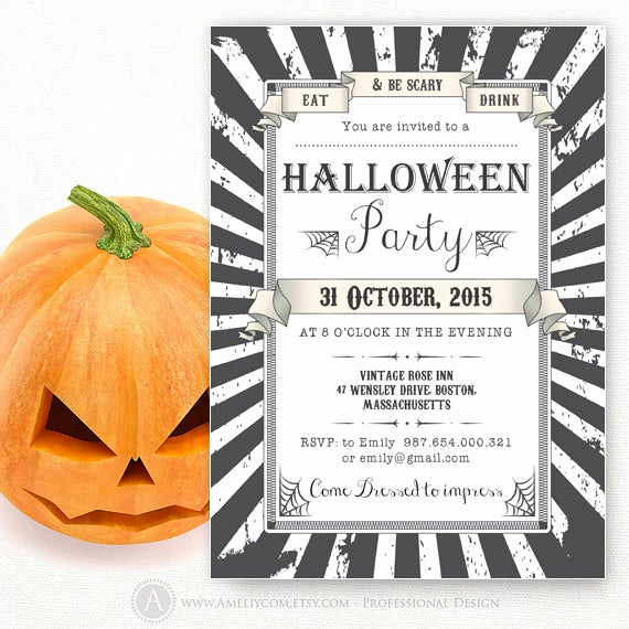 Halloween Party Invite Template New Printable Halloween Party Invitations Templates Adult