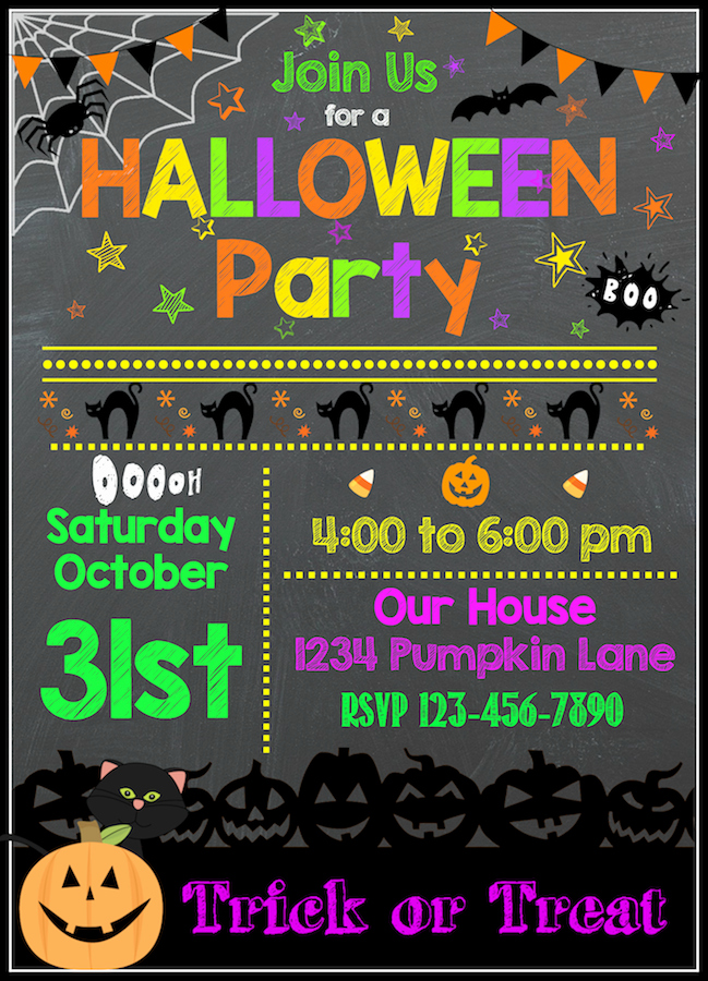 Halloween Party Invites Templates Beautiful Free Halloween Printables Kids Party Invitations