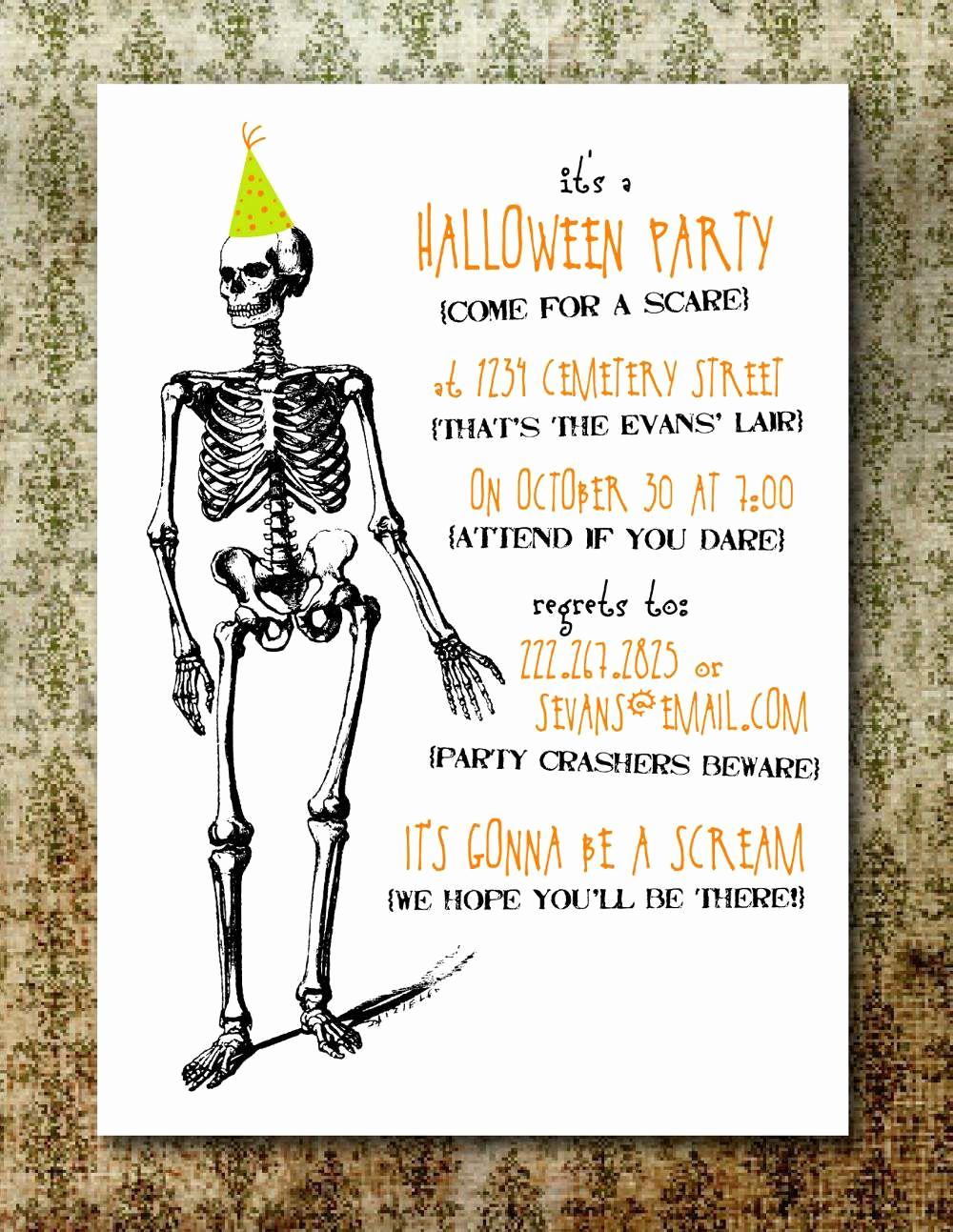 Halloween Party Invites Templates Beautiful Free Printable Halloween Invitation Templates