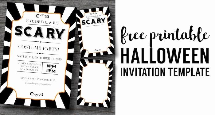 Halloween Party Invites Templates Elegant Halloween Invitations Free Printable Template Paper