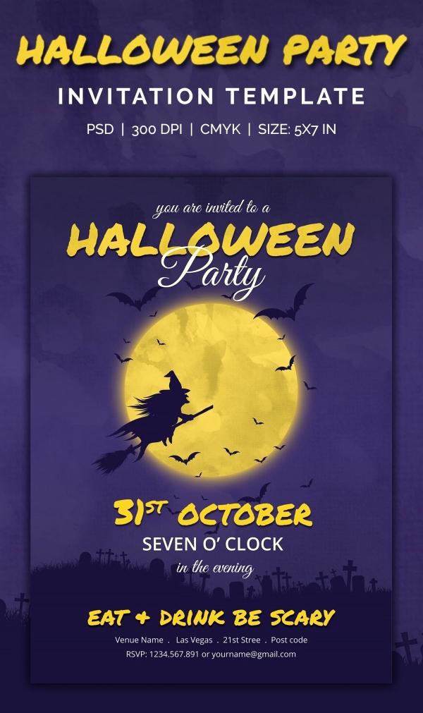 Halloween Party Invites Templates Fresh 35 Halloween Invitation Free Psd Vector Eps Ai