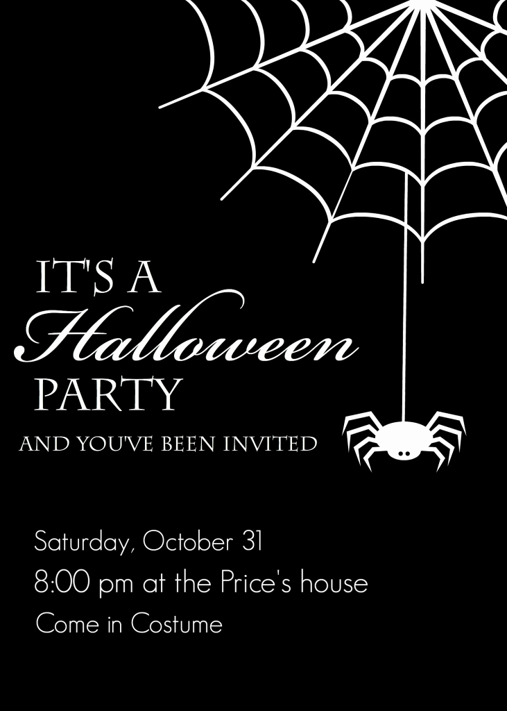 Halloween Party Invites Templates Lovely Free Printable Halloween Party Invitations Yellow Bliss Road