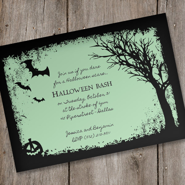 Halloween Party Invites Templates Lovely Halloween Invitation Template – Spooky Woods – Download