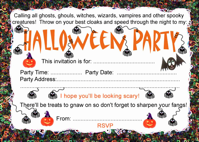 Halloween Party Invites Templates Lovely Halloween Party Invitation