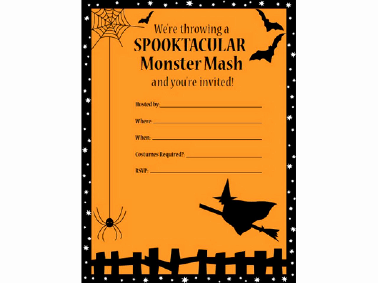 Halloween Party Invites Templates New 41 Printable and Free Halloween Templates