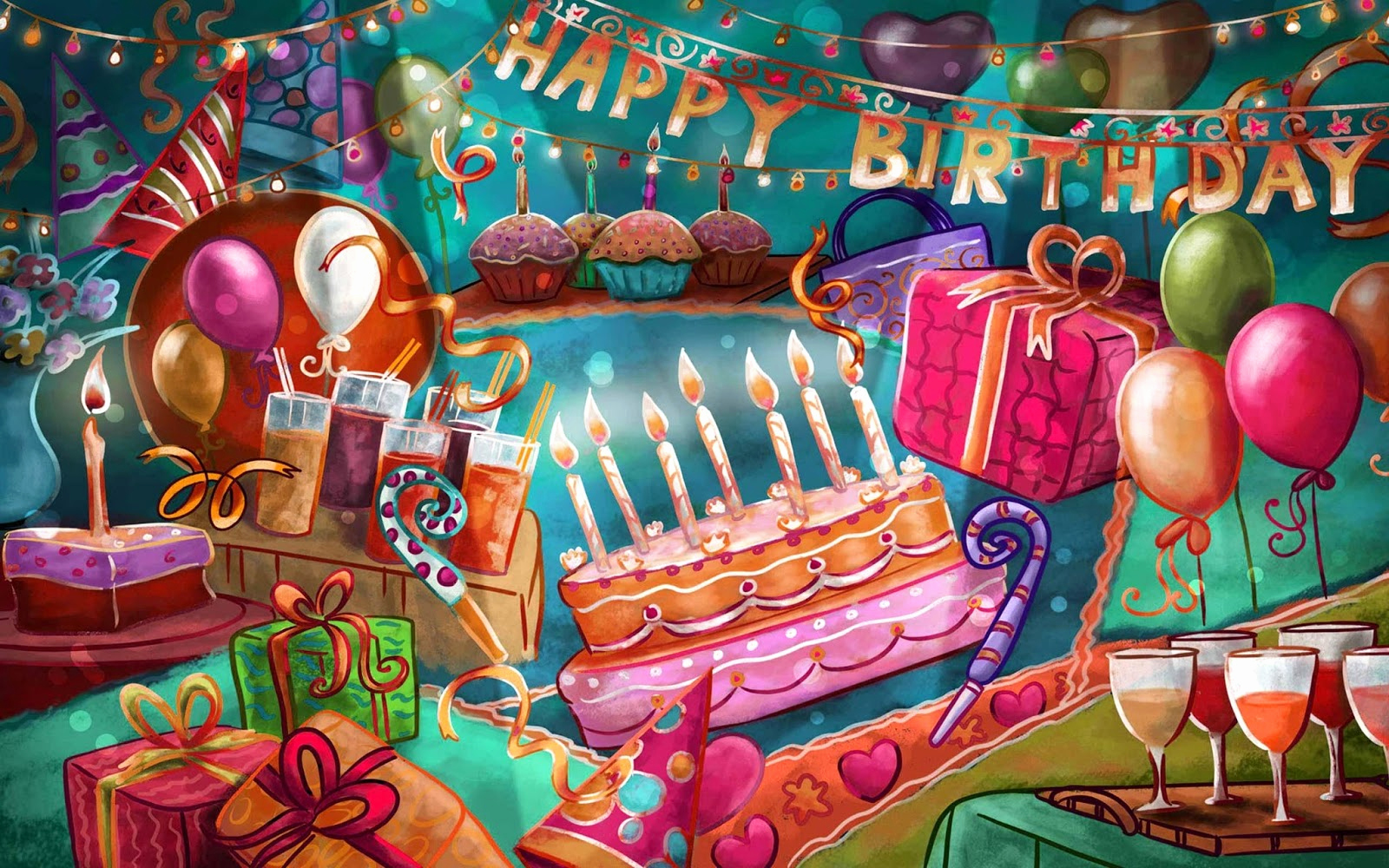 Happy Bday Wallpapers Free Unique Happy Birthday Greetings Wishes High Resolution Hd 2013