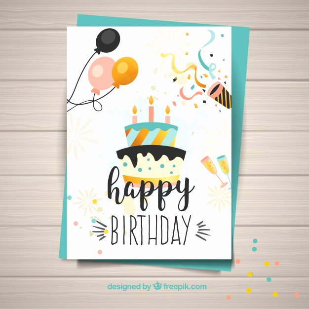 Happy Birthday Card Template Awesome Template for Happy Birthday Card Vector
