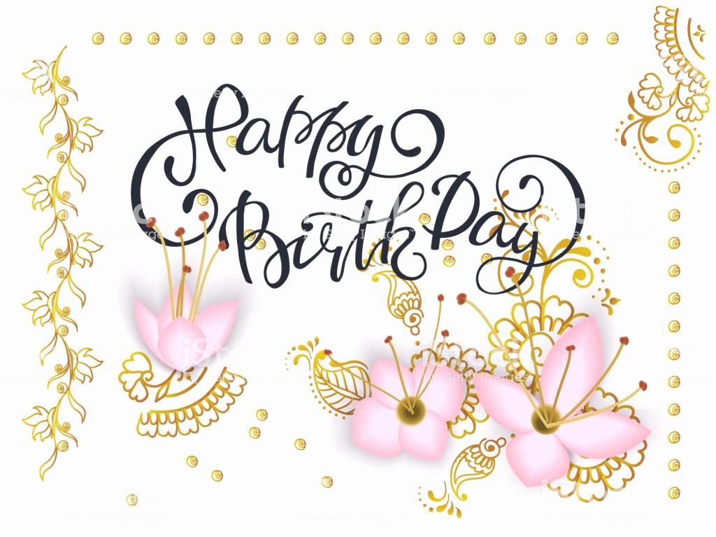 Happy Birthday Card Template Beautiful Lettering Happy Birthday Card Template with 3d Paper Pink