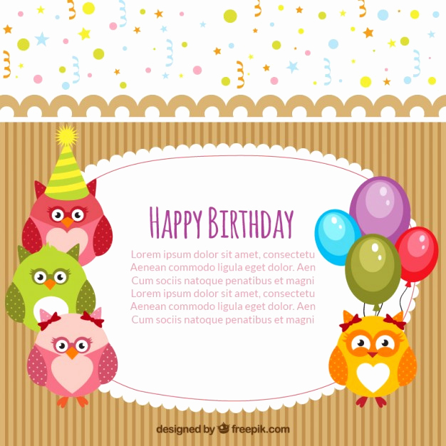 Happy Birthday Card Template Best Of Happy Birthday Card Template Vector