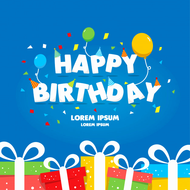 Happy Birthday Card Template Best Of Happy Birthday Template Gift Card Vector