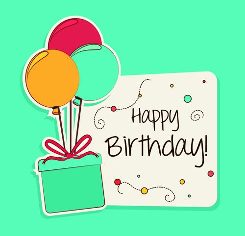 Happy Birthday Card Template Elegant Cartoon Style Happy Birthday Greeting Card Template 03