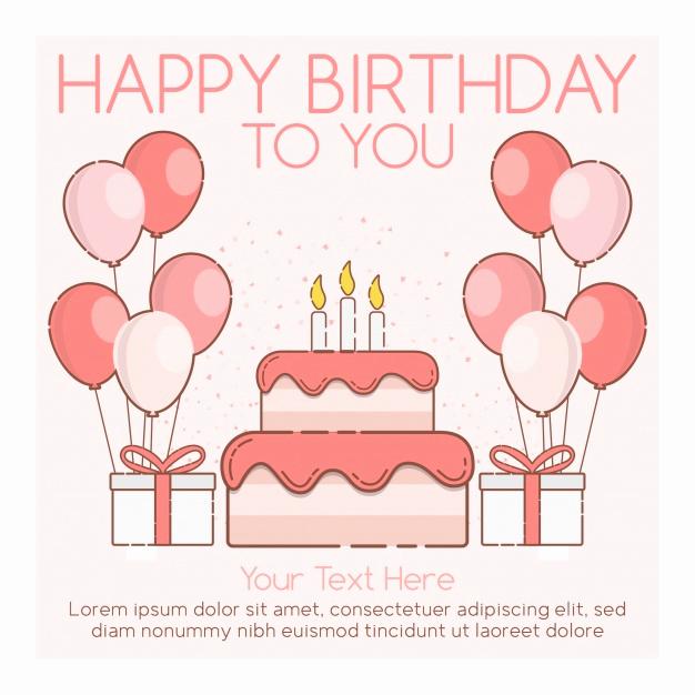 Happy Birthday Card Template Inspirational Happy Birthday Card Template Vector