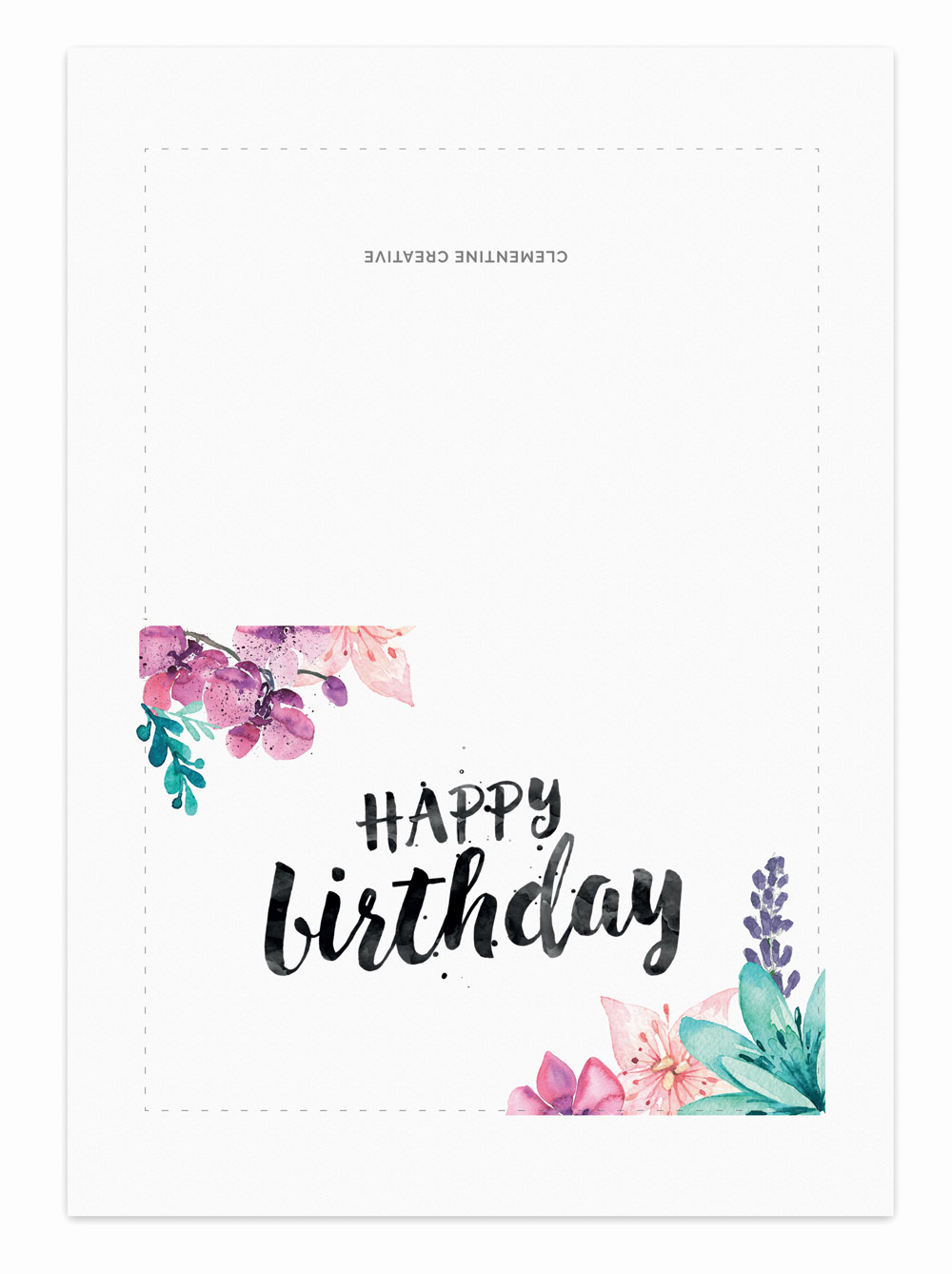 Happy Birthday Card Template Lovely Printable Birthday Card for Her