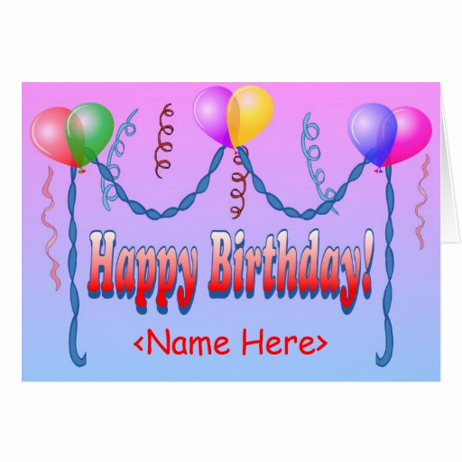 Happy Birthday Card Template Luxury Happy Birthday Template Card
