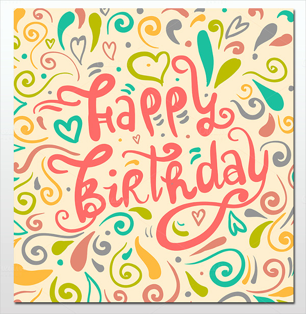 Happy Birthday Card Template New 16 Birthday Templates Free Psd Eps Word Pdf
