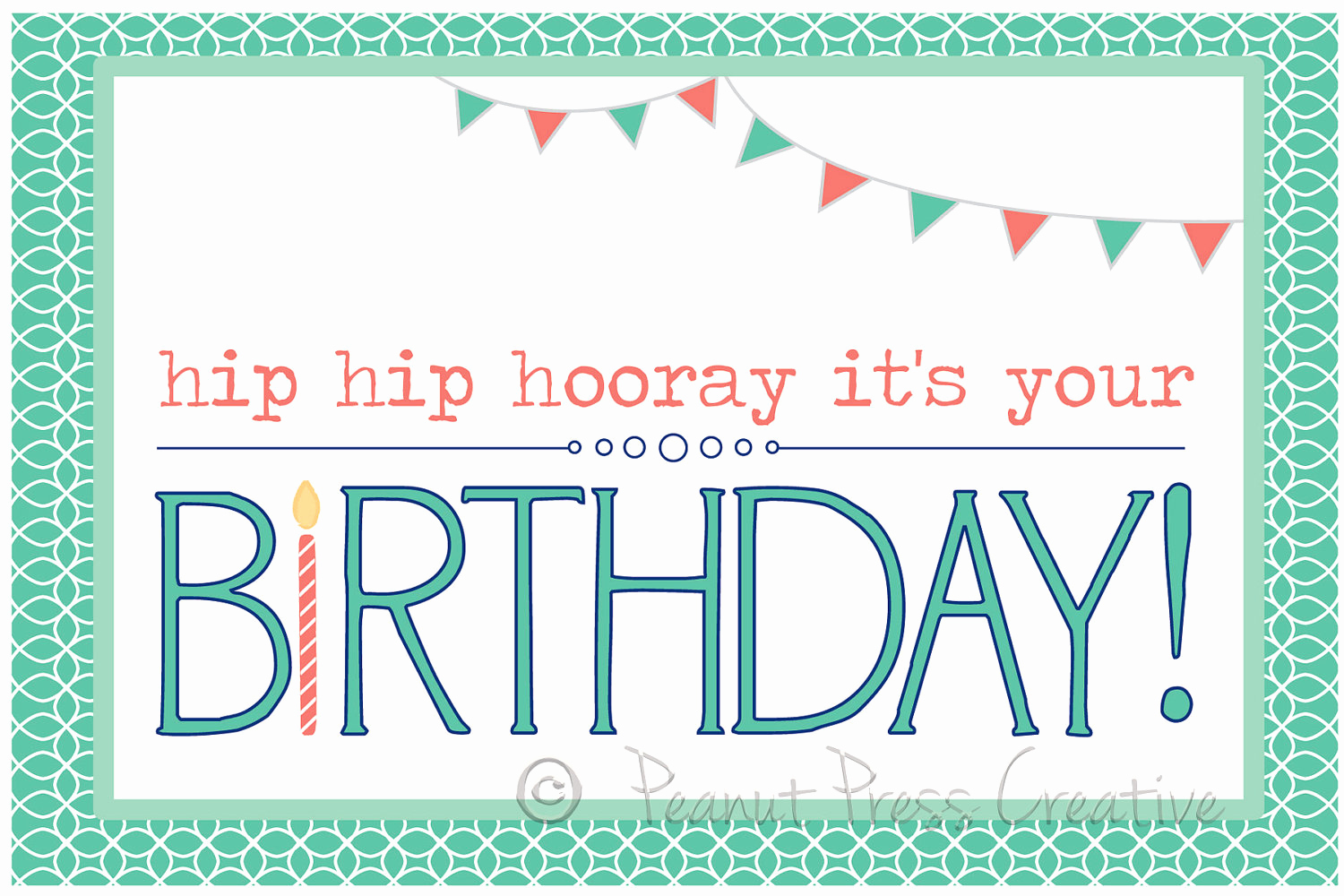 Happy Birthday Card Template New 8 Birthday Card Templates Excel Pdf formats