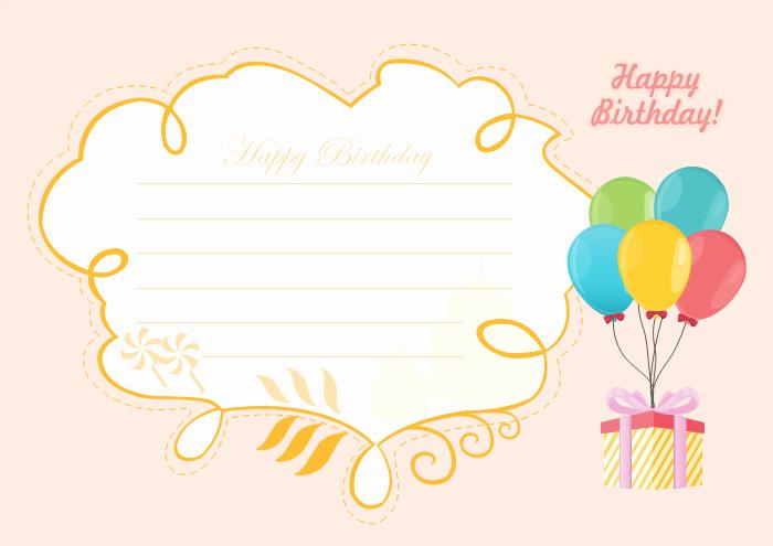 Happy Birthday Card Template New Free Editable and Printable Birthday Card Templates