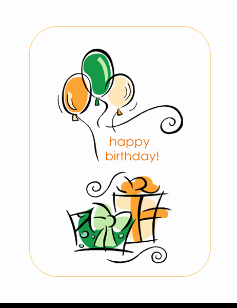 Happy Birthday Card Template Unique Happy Birthday Card with Balloons Quarter Fold