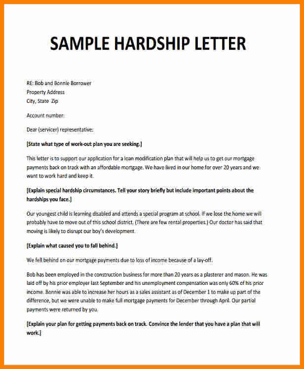 Hardship Letter for Mortgage Best Of 5 Sample Hardship Letter for Medical Bills