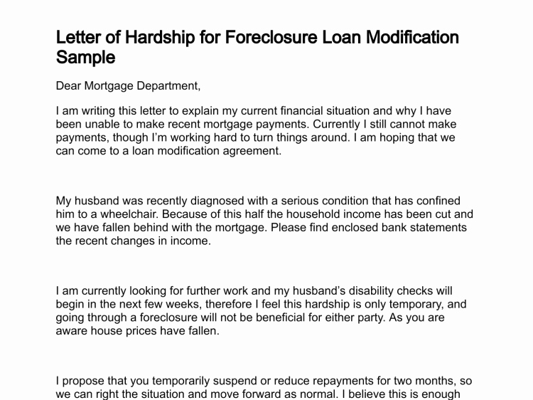 Hardship Letter for Mortgage Best Of Letter Of Hardship