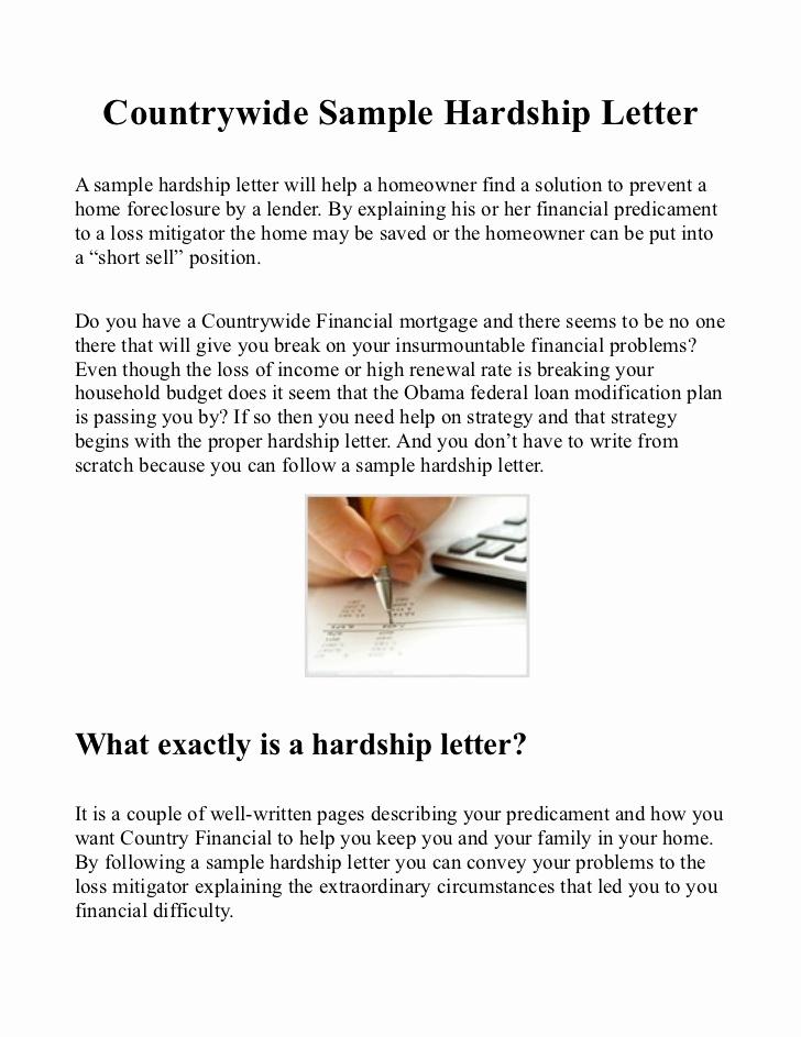 Hardship Letter for Mortgage Elegant Country Sample Hardship Letter