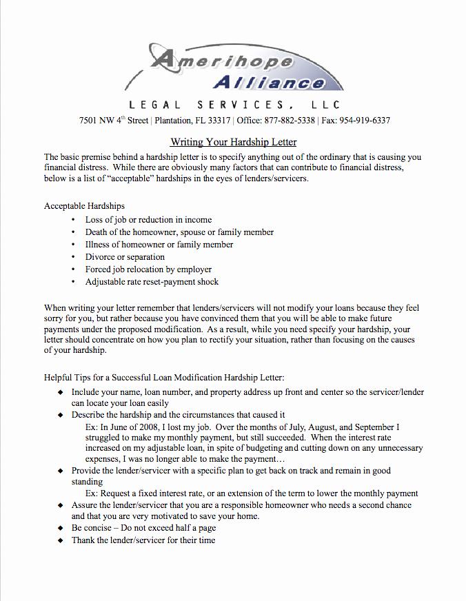 Hardship Letter for Mortgage Fresh Hardship Letter Guide for Homeowners