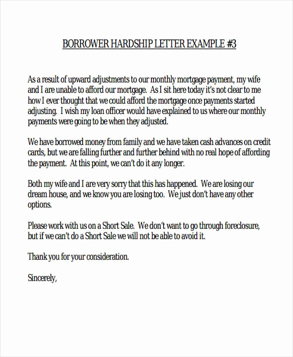 Hardship Letter for Mortgage Lovely 6 Hardship Letter Templates 6 Free Sample Example