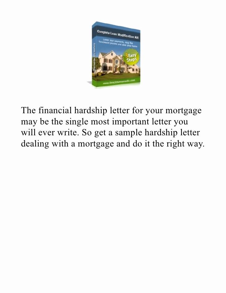 Hardship Letter for Mortgage Lovely Hardship Letter for Mortgage Reduction