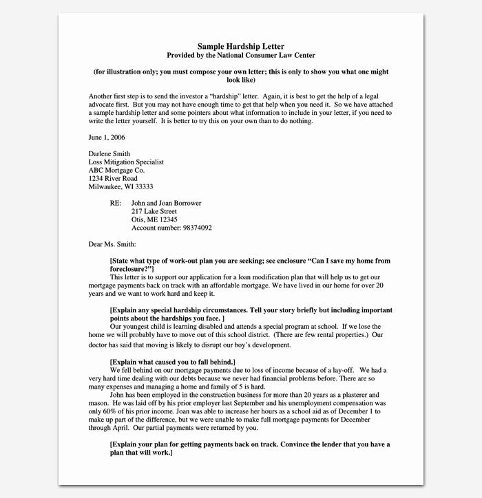 Hardship Letter for Mortgage Lovely Hardship Letter Template 10 for Word Pdf format