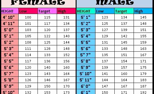 Height to Weight Ration Chart Fresh Height to Weight Chart