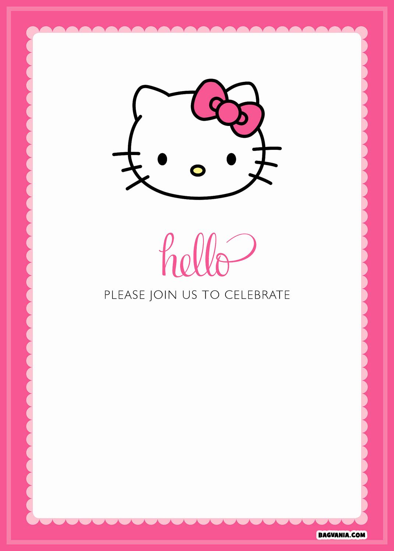 Hello Kitty Bday Invitations Awesome Free Printable Hello Kitty Birthday Invitations – Free