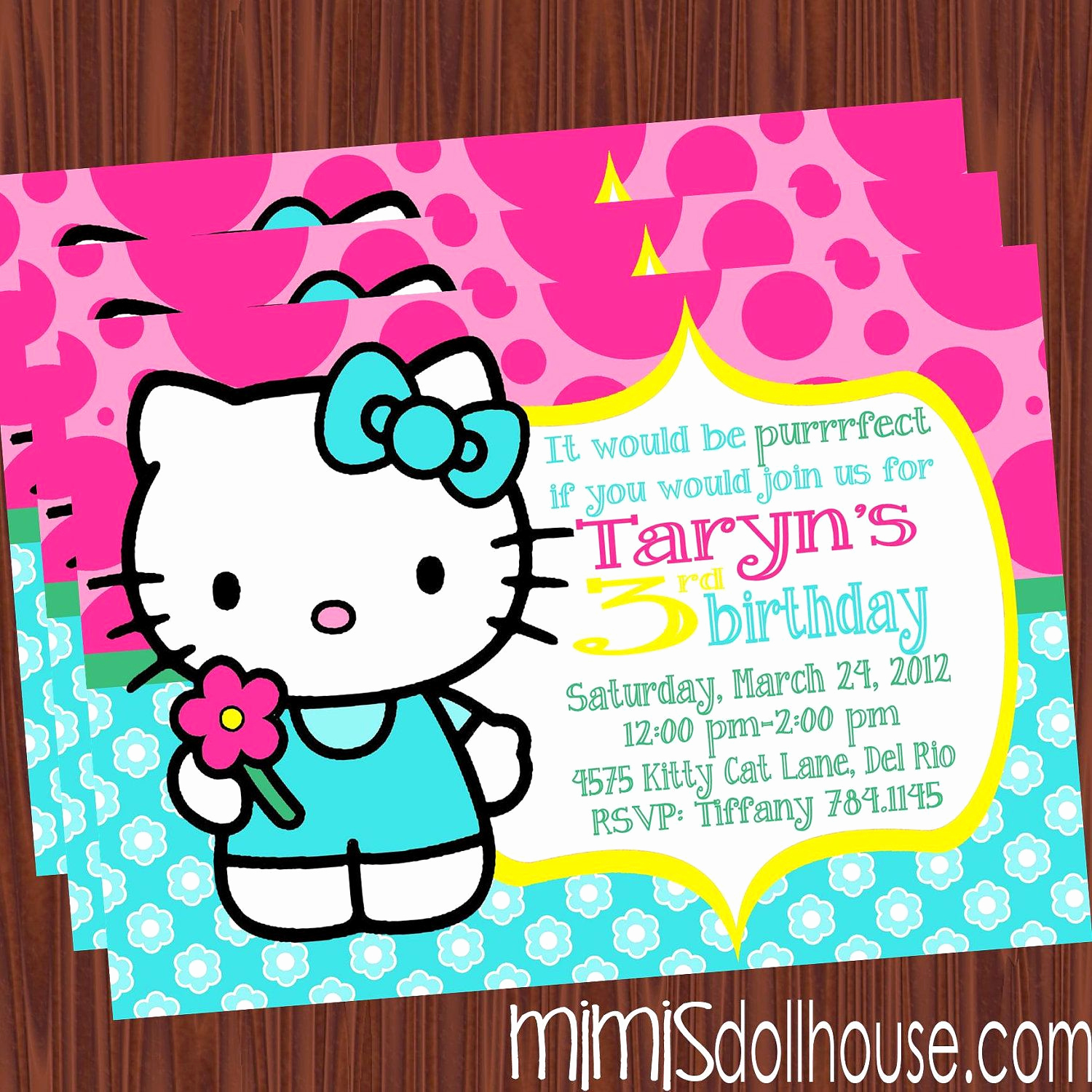 Hello Kitty Bday Invitations Awesome Pin by Kristen Crow On Brooklynn S 5th Birthday