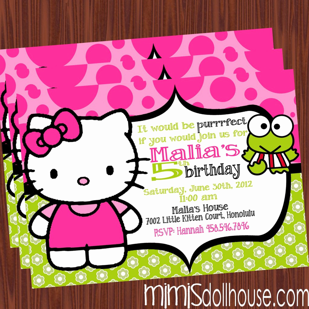 Hello Kitty Bday Invitations Best Of Free Printable Hello Kitty Birthday Party Invitations