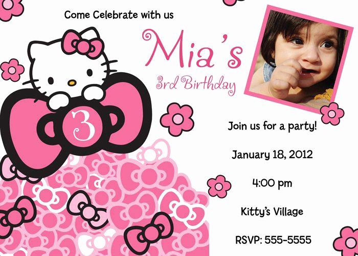 Hello Kitty Bday Invitations Best Of Hello Kitty Birthday Invitation