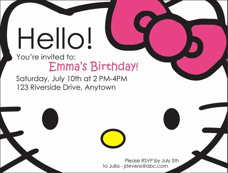 Hello Kitty Bday Invitations Elegant 25 Best Ideas About Hello Kitty Parties On Pinterest