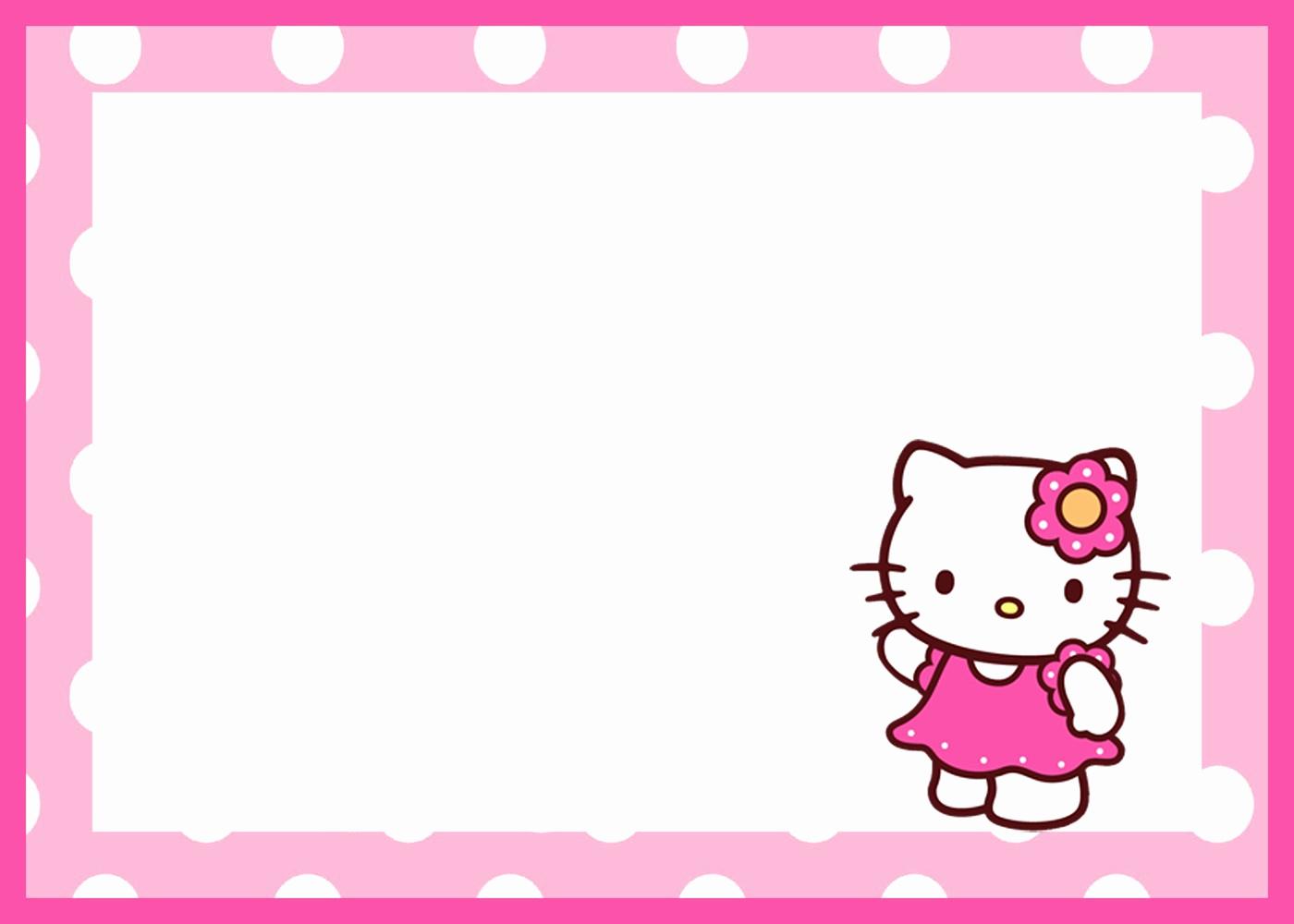 Hello Kitty Bday Invitations Fresh Hello Kitty Free Printable Invitation Templates