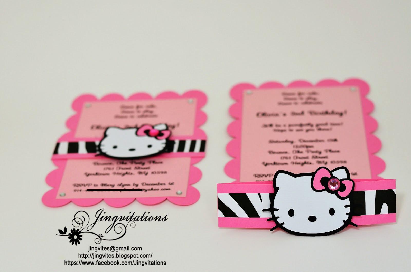 Hello Kitty Bday Invitations Fresh Jingvitations Hello Kitty Birthday Party Invitations