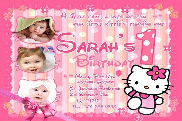 Hello Kitty Bday Invitations Lovely 71 Printable Birthday Invitation Templates Word Psd