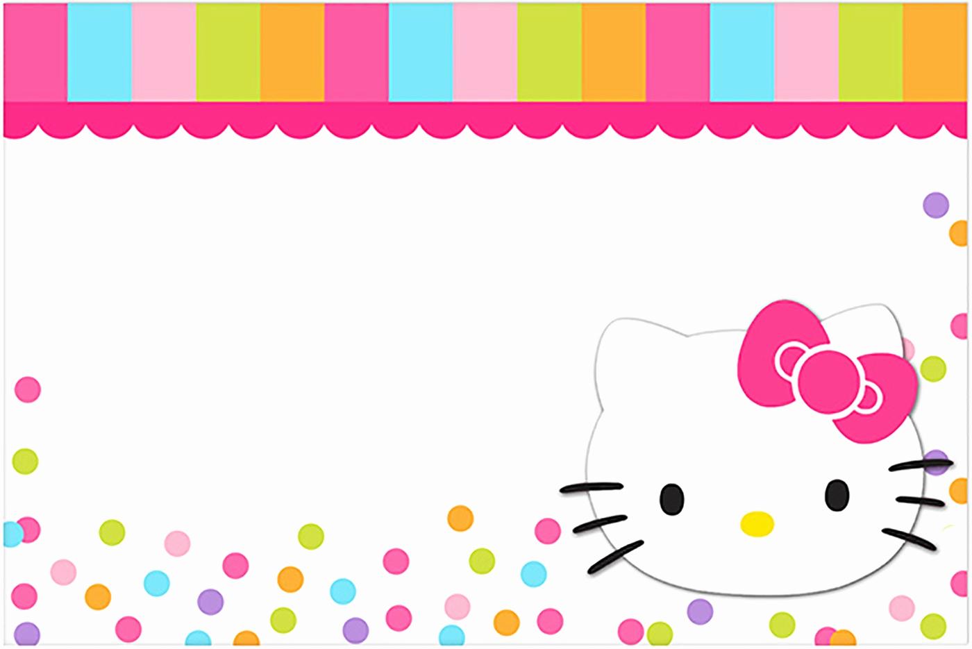 Hello Kitty Bday Invitations Lovely Hello Kitty Free Printable Invitation Templates