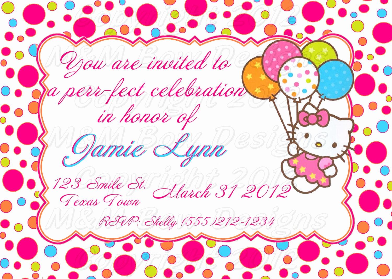 Hello Kitty Bday Invitations Luxury Diy Printable Hello Kitty Birthday Invitation & Thank You Set
