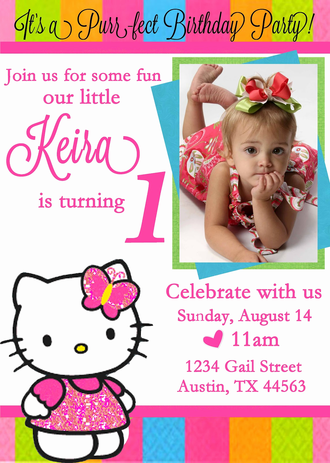Hello Kitty Bday Invitations Luxury Free Personalized Hello Kitty Birthday Invitations