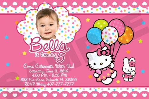 Hello Kitty Bday Invitations Luxury Free Printable Hello Kitty Birthday Party Invitations