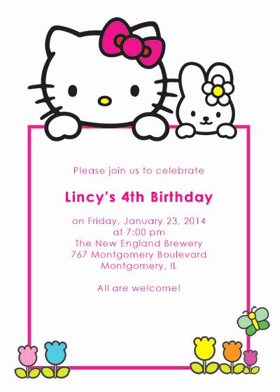 Hello Kitty Bday Invitations Luxury Hello Kitty Free Birthday Invitation ← Wedding Invitation