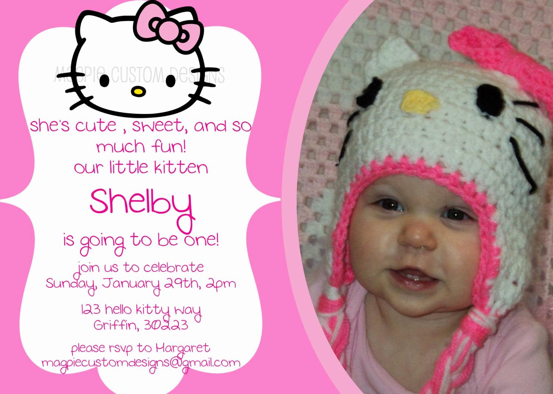Hello Kitty Bday Invitations Luxury Printable Personalized Hello Kitty Birthday Invitation