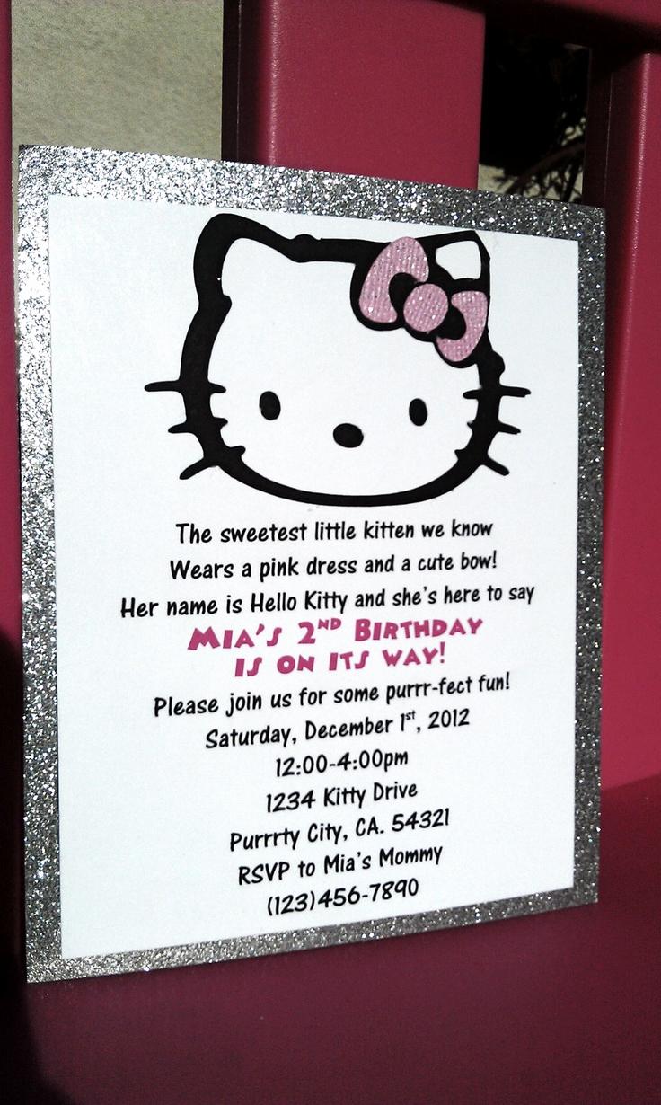 Hello Kitty Bday Invitations Unique Best 25 Hello Kitty Invitations Ideas On Pinterest